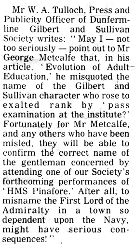 Extract from the Dunfermline Press, 21 January 1977